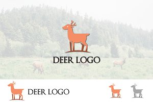 Deer Roe Simple Logo