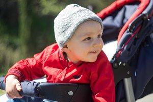 Beautiful little boy outdoor
