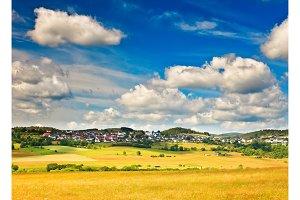 German countryside at summer