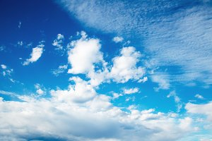 Blue sky and bright cloud