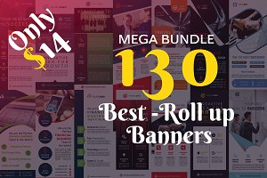130 Roll up Banners Bundle SALE 98%