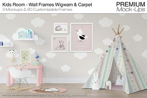 Kids Room - Wall Frames & Wigwam Set