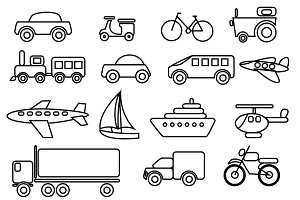 Transportation Vector Clip art set