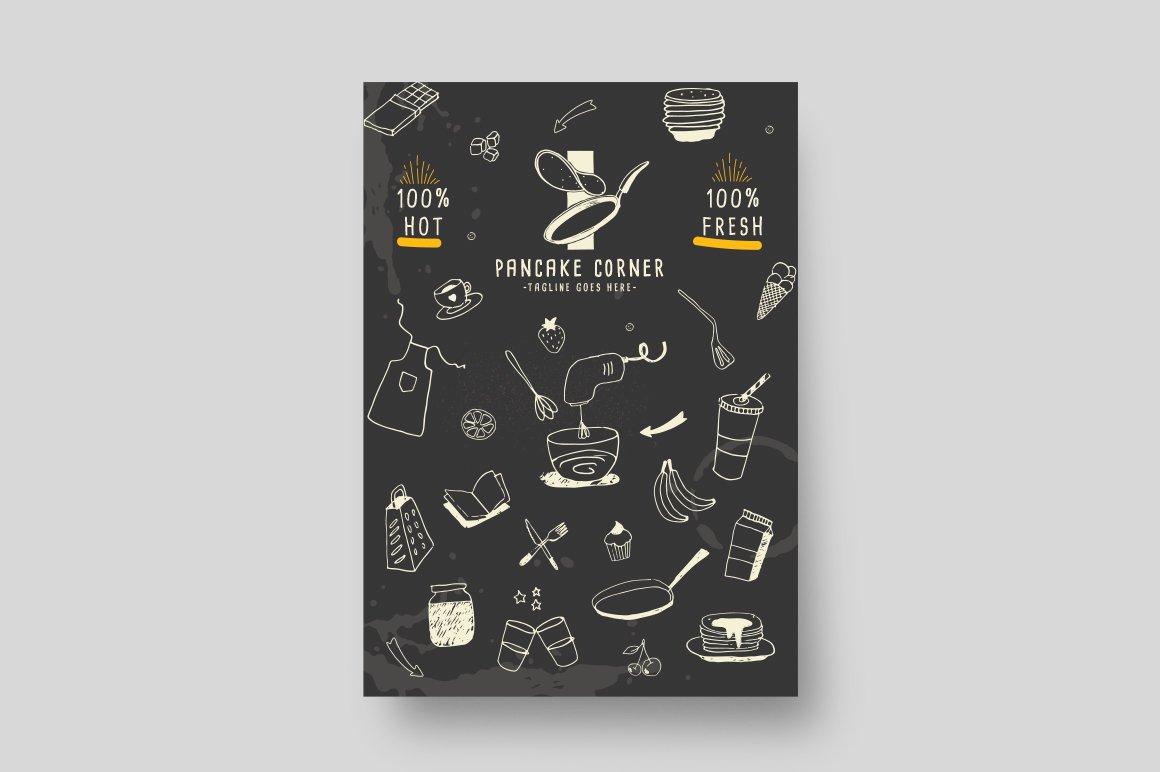 Pancake corner - Menu Template ~ Flyer Templates ~ Creative Market