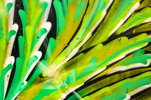 Tropical Plant Detail View Painting