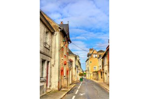 Street in the old town of Amboise, France