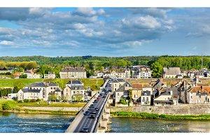 Marechal Leclerc Bridge across the Loire in Amboise, France