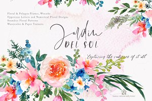 Jardin Del Sol - Watercolor Floral S