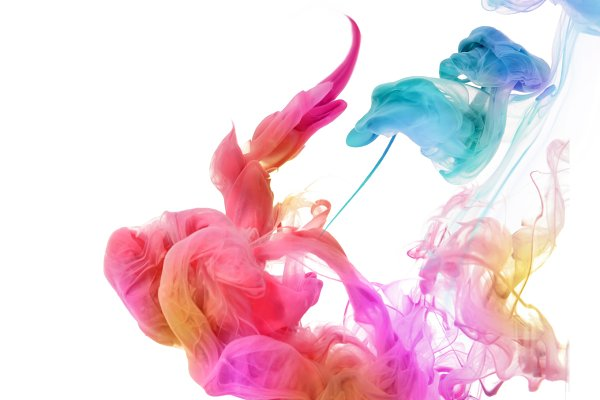 Acrylic colors in water.