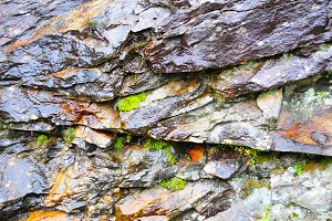 Rough stone wall