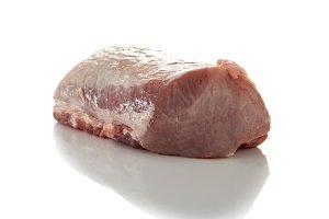 Piece of fresh pork loin