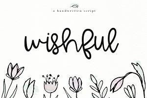 Wishful - Handwritten Script Font
