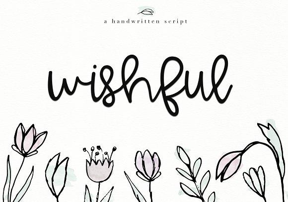 Wishful Handwritten Script Font