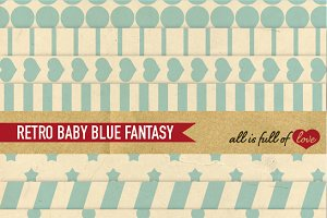 -60% Pale Blue Scrapbooking Papers