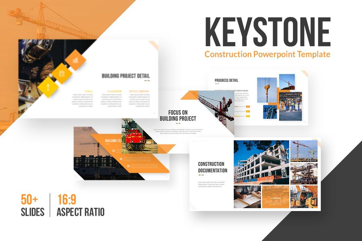 Keystone construction template presentation templates creative keystone construction template presentation templates creative market toneelgroepblik Choice Image
