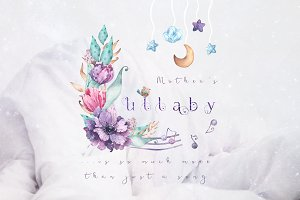 Lullaby - watercolor collection
