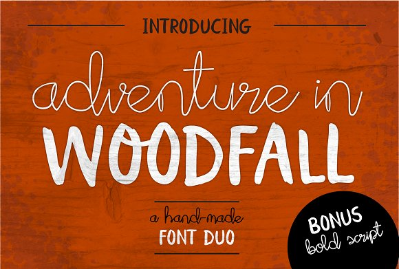 Adventure In Woodfall Font Duo