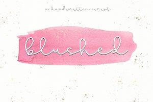 Blushed - Handwritten Script Font