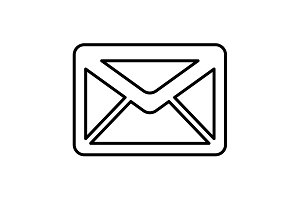 sms line vector icon. illustration
