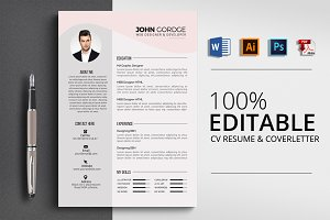 Creative MS Word Resume CV
