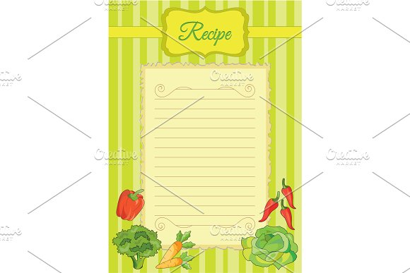 Beautiful paper for culinary notes