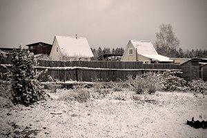 Russian landscape. Winter.