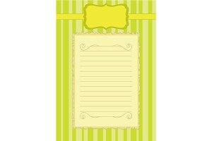 Paper for letters, Blank sheet,