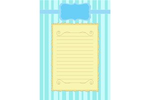 Paper for letters, Blank sheet