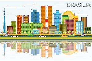 Brasilia Brazil City Skyline