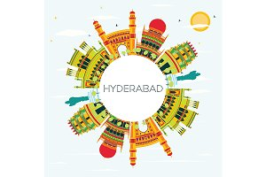 Hyderabad City Skyline