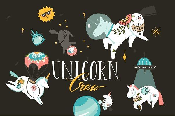 Unicorn Crew set