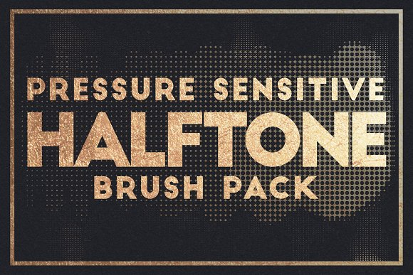 Pressure Sensitive Halftone Brushes