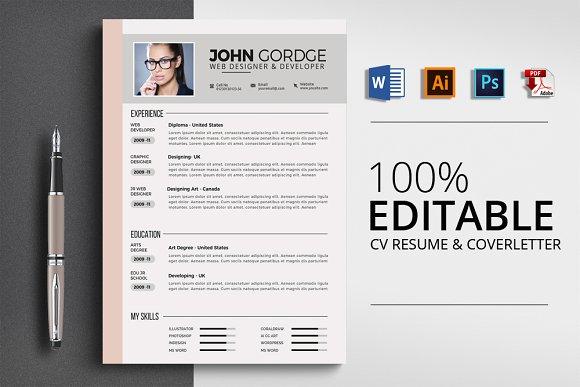CV Resume Office Word