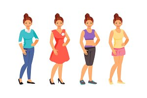 Clothing styles vector