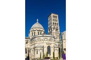 Saint Peter Cathedral of Angouleme built in the Romanesque style - France, Charente