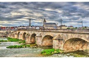 Jacques-Gabriel Bridge over the Loire in Blois, France