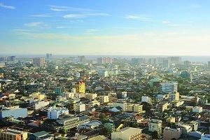 Aerial view on metro Manila