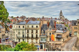 View of the old town of Blois - France
