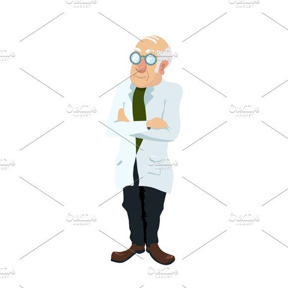 Cute Cartoon Scientist Character