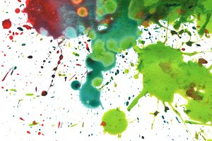 abstract watercolor painting blot