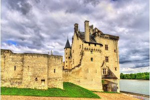 Chateau de Montsoreau on the bank of the Loire in France