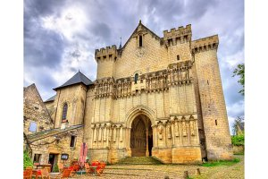 Collegiale Saint-Martin de Candes, a church on the bank of the Vienne, France