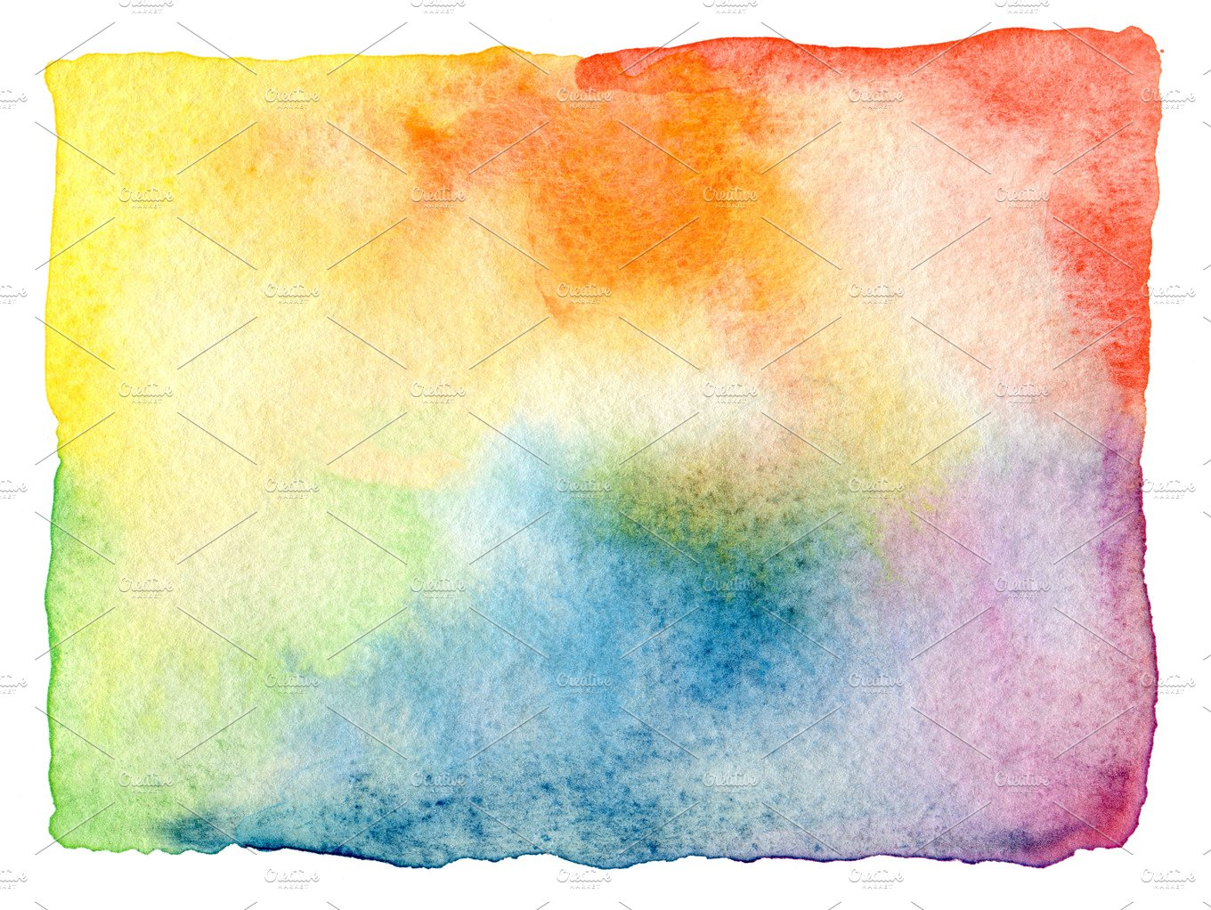 Abstract watercolor painted frame ~ Abstract Photos ~ Creative Market