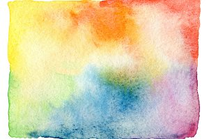 Abstract watercolor painted frame