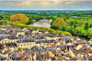 View of Chinon from the castle - France