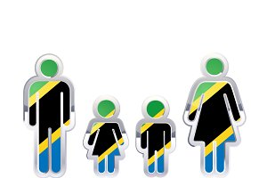 People icon with Tanzania flag