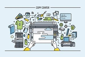 Copy center, print shop, publishing