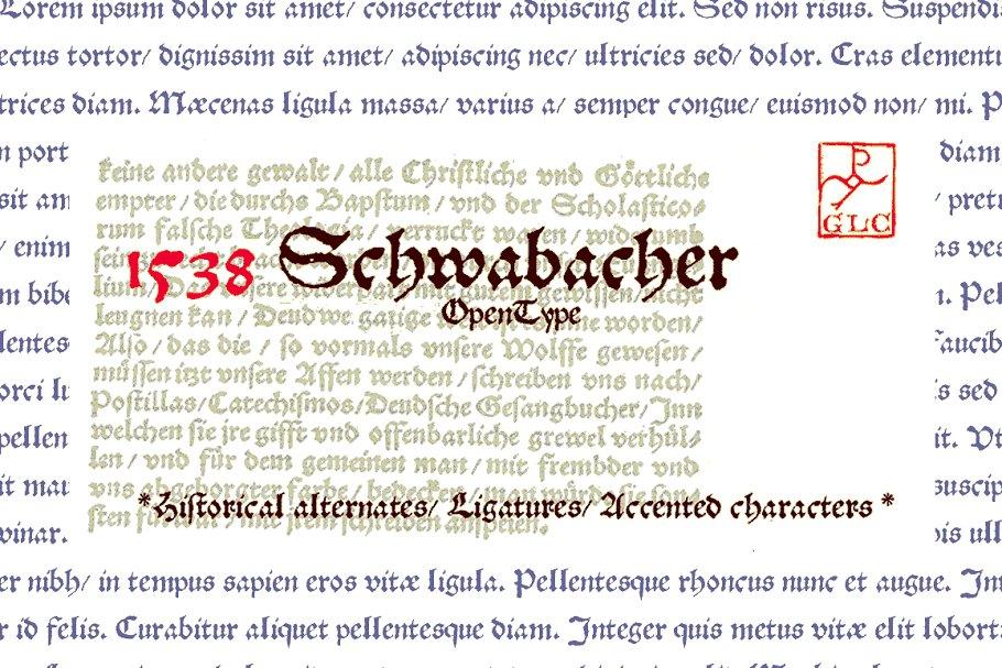 1538 Schwabacher OTF