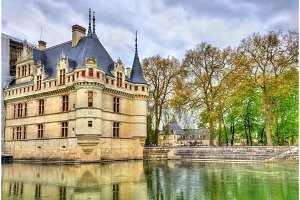 Azay-le-Rideau castle in Loire Valley, France.