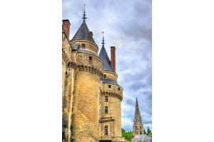 Towers of the Chateau de Langeais, a castle in the Loire Valley, France